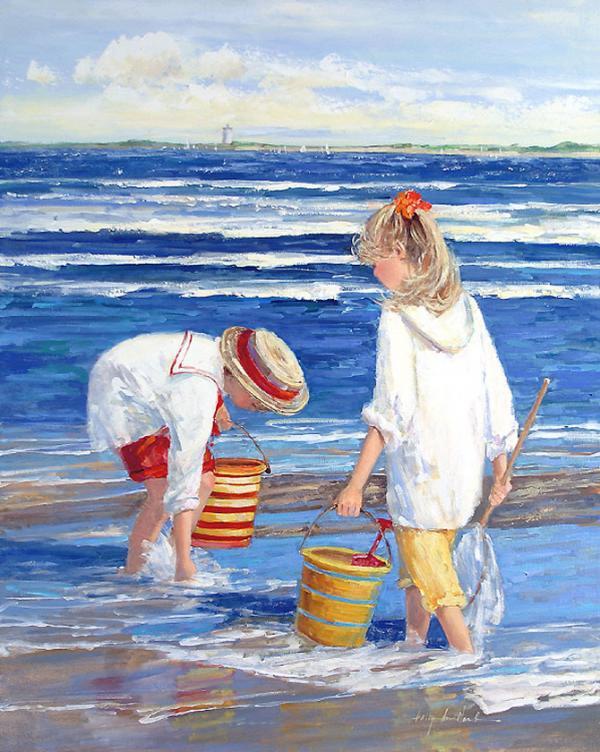 Παιδιά στην παραλία – Sally Swatland