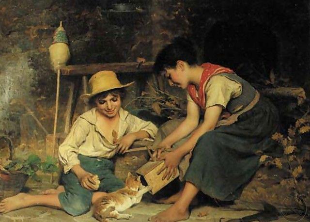 Παίζοντας με το γατάκι –  Luigi Bechi