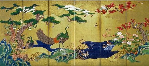 Πουλιά και λουλούδια της Ιαπωνίας- Ζωγραφική σε μετάξι