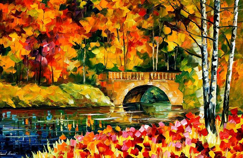 Γέφυρα το φθινόπωρο – Leonid Afremov