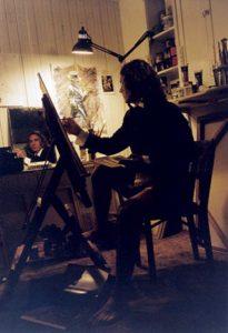 fabian-perez-painting-himself
