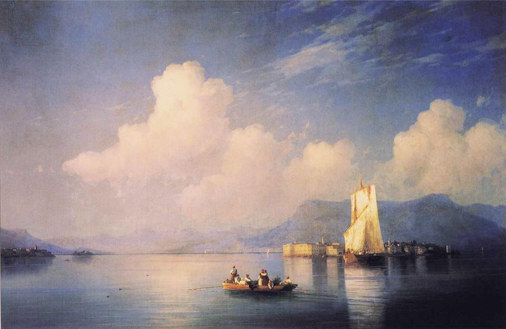 Απόγευμα στην Λίμνη Ματζόρε –  Ιβάν  Αϊβαζόφσκι