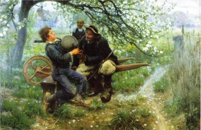 The Bagpipe Lesson, 1893