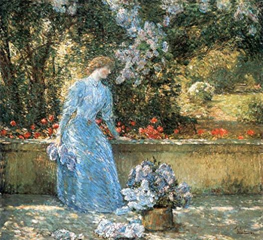 Gathering Flowers in a French Garden (1888)