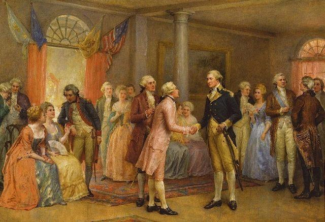 Washington Greeting Lafayette at Mount Vernon