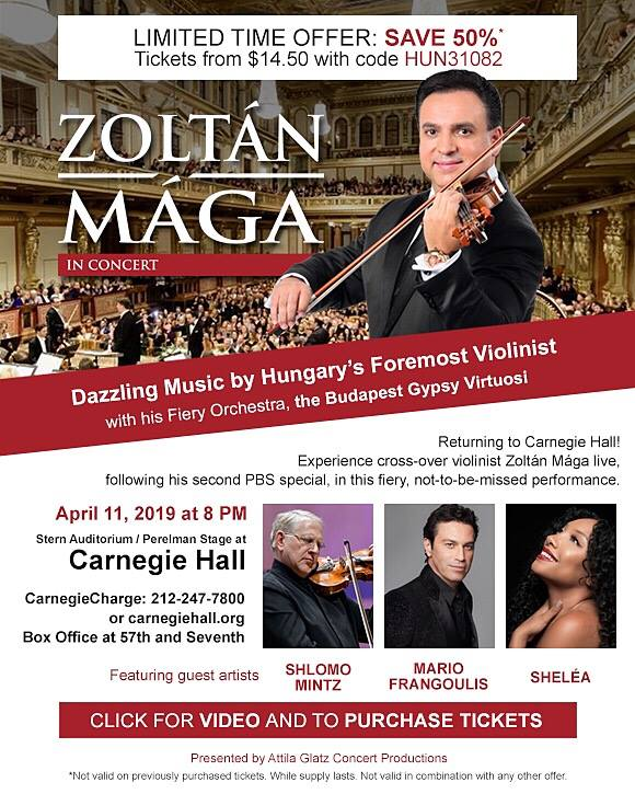 Hungarian Violinist Zoltán Mága Brings Passion and Fire to New York