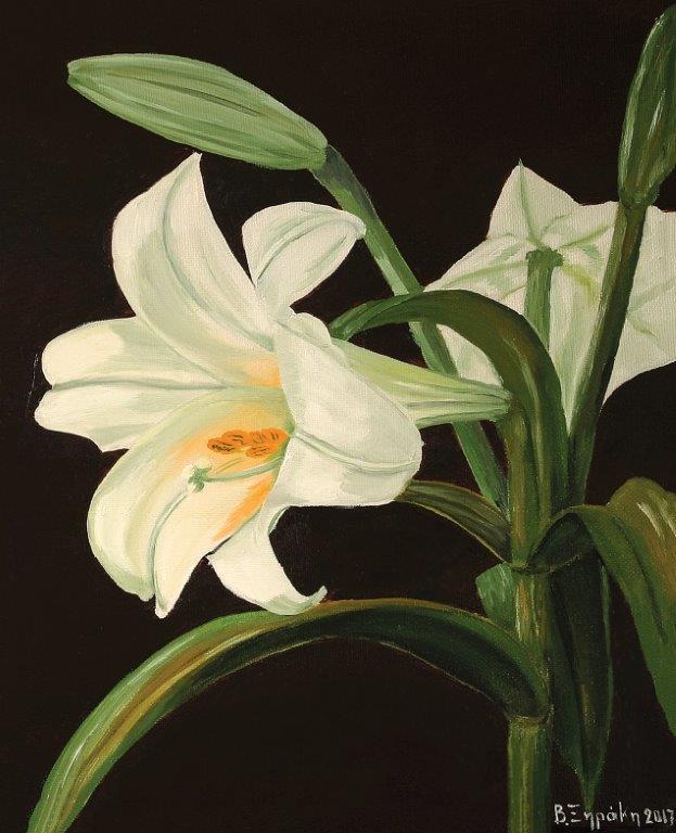 """""""Ένα λουλούδι για ένα Ποίημα"""" στην Aqua Gallery στη Σαντορίνη"""