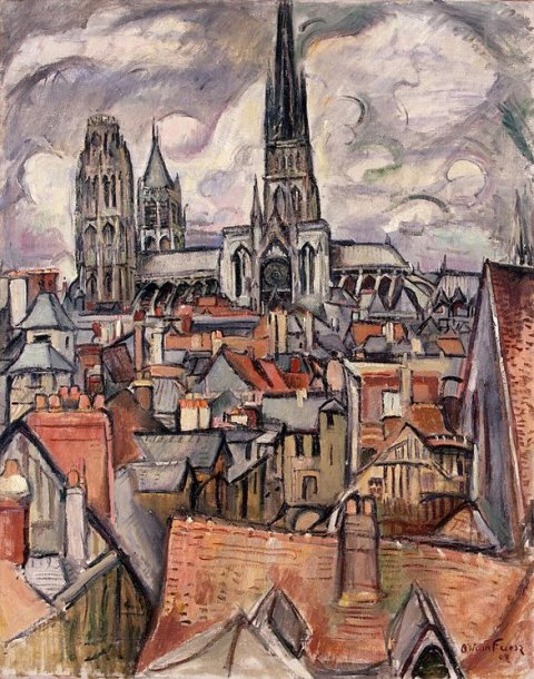 Roofs and Cathedral in Rouen