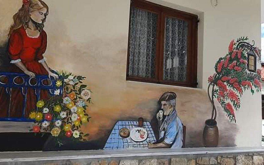 Με ζωγραφισμένους τοίχους κόντρα στην μουντάδα του lockdown η Παλαιόχωρα