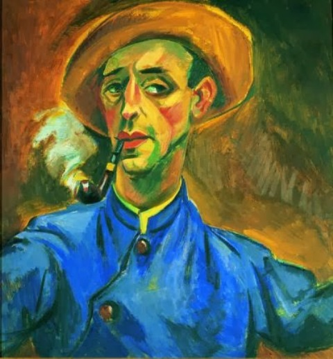 Hermann Max Pechstein, Self portrait